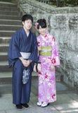 Coppie giapponesi sposate fotografie stock