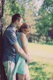 Coppie graziose della foto d'annata, amore, relazioni Fotografia Stock