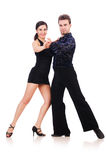 Coppie i ballerini Immagine Stock