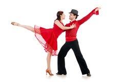 Coppie i ballerini Fotografia Stock Libera da Diritti