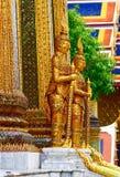 Coppie i demoni in guardia, kaew di phra del wat, Bangkok, Tailandia Immagini Stock Libere da Diritti
