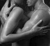 Coppie interrazziali sexy Fotografie Stock Libere da Diritti