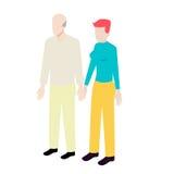 Coppie isometriche di età differenti Immagini Stock Libere da Diritti