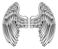 Coppie l'angelo o Eagle Wings royalty illustrazione gratis