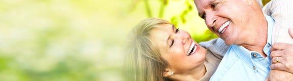 Coppie maggiori sorridenti fotografia stock libera da diritti