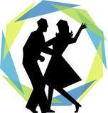 Coppie moderne di ballo dell'oscillazione Immagine Stock