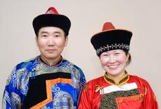 Coppie mongole immagini stock