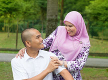 Coppie musulmane Fotografie Stock Libere da Diritti