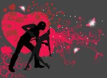 Coppie nel dancing di amore Royalty Illustrazione gratis
