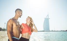Coppie nel Dubai Fotografia Stock Libera da Diritti