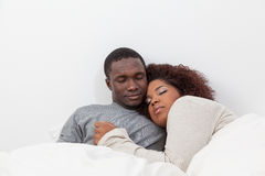 Coppie nel sonno di amore Fotografia Stock Libera da Diritti