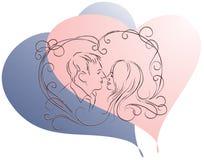 Coppie nell'amore immagine stock libera da diritti