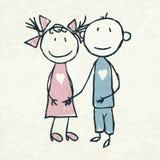Coppie nell'amore illustrazione di stock