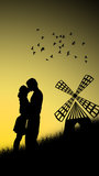 Coppie nell'amore Immagine Stock