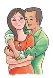 Coppie nell'amore royalty illustrazione gratis