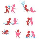 Coppie nell'amore come icone Royalty Illustrazione gratis