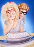 Coppie nerd immagini stock