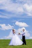 coppie Nuovo-sposate Immagini Stock