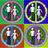Coppie pacifiche di POP Fotografie Stock Libere da Diritti