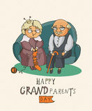 Coppie pensionate felici Giorno felice dei nonni Fotografie Stock Libere da Diritti