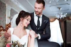 Coppie perfette di nozze fotografia stock libera da diritti