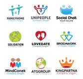 Coppie Person Symbol Design Immagine Stock