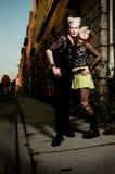 Coppie punk fotografia stock