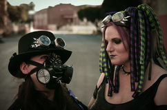 Coppie punk cyber #2 Fotografia Stock Libera da Diritti