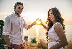 Coppie romantiche Fotografie Stock
