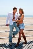 Coppie romantiche felici Immagini Stock