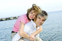 Coppie romantiche mature Immagine Stock
