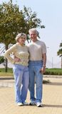Coppie senior alla località di soggiorno Fotografie Stock