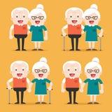 Coppie senior anziane pensionate di età Fotografia Stock Libera da Diritti