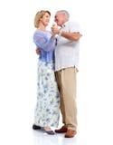 Coppie senior ballanti nell'amore. Immagine Stock