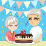 50 coppie senior di anniversario illustrazione vettoriale