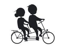Coppie senior di giorno felice dei nonni sulla bicicletta Immagine Stock Libera da Diritti