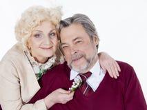 Coppie senior felici nell'amore Fotografie Stock Libere da Diritti