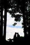 Coppie Silhouet Fotografie Stock Libere da Diritti