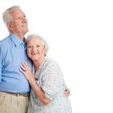 Coppie sorridenti insieme a copyspace Fotografie Stock Libere da Diritti