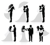 Coppie sposate. Fotografia Stock