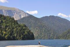 Coppie sul lago Riza Immagine Stock Libera da Diritti