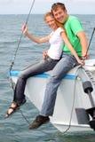 Coppie sull'yacht Fotografia Stock