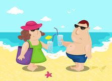 Coppie sulla spiaggia Immagini Stock Libere da Diritti