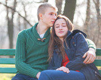 Coppie teenager Fotografie Stock