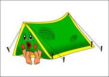 Coppie in tenda Immagini Stock Libere da Diritti