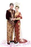 Coppie tradizionali di nozze di Java Immagine Stock