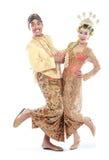 Coppie tradizionali felici di nozze di Java Fotografia Stock Libera da Diritti