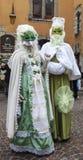 Coppie travestite - carnevale veneziano 2013 di Annecy Fotografia Stock