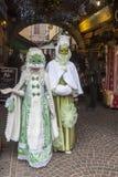 Coppie travestite - carnevale veneziano 2013 di Annecy Fotografie Stock