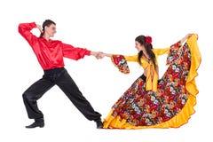 Coppie zingaresche del ballerino di flamenco Fotografia Stock